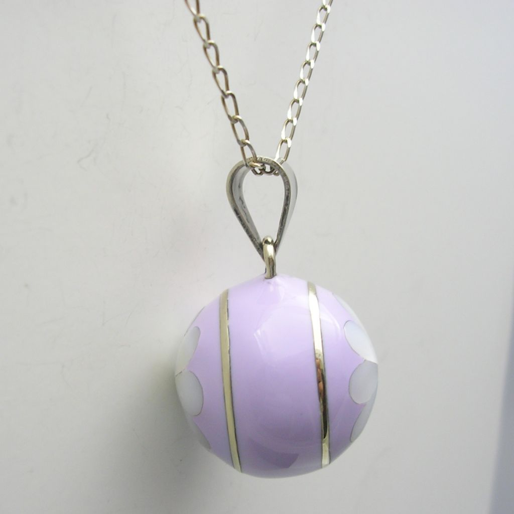 Silver Plated Harmony Ball with Shell Flower