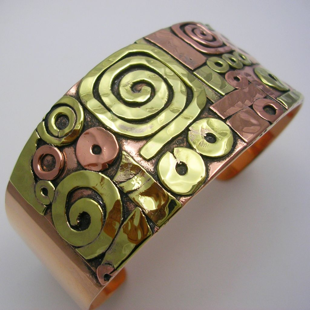 Copper and Brass Mexican Cuff