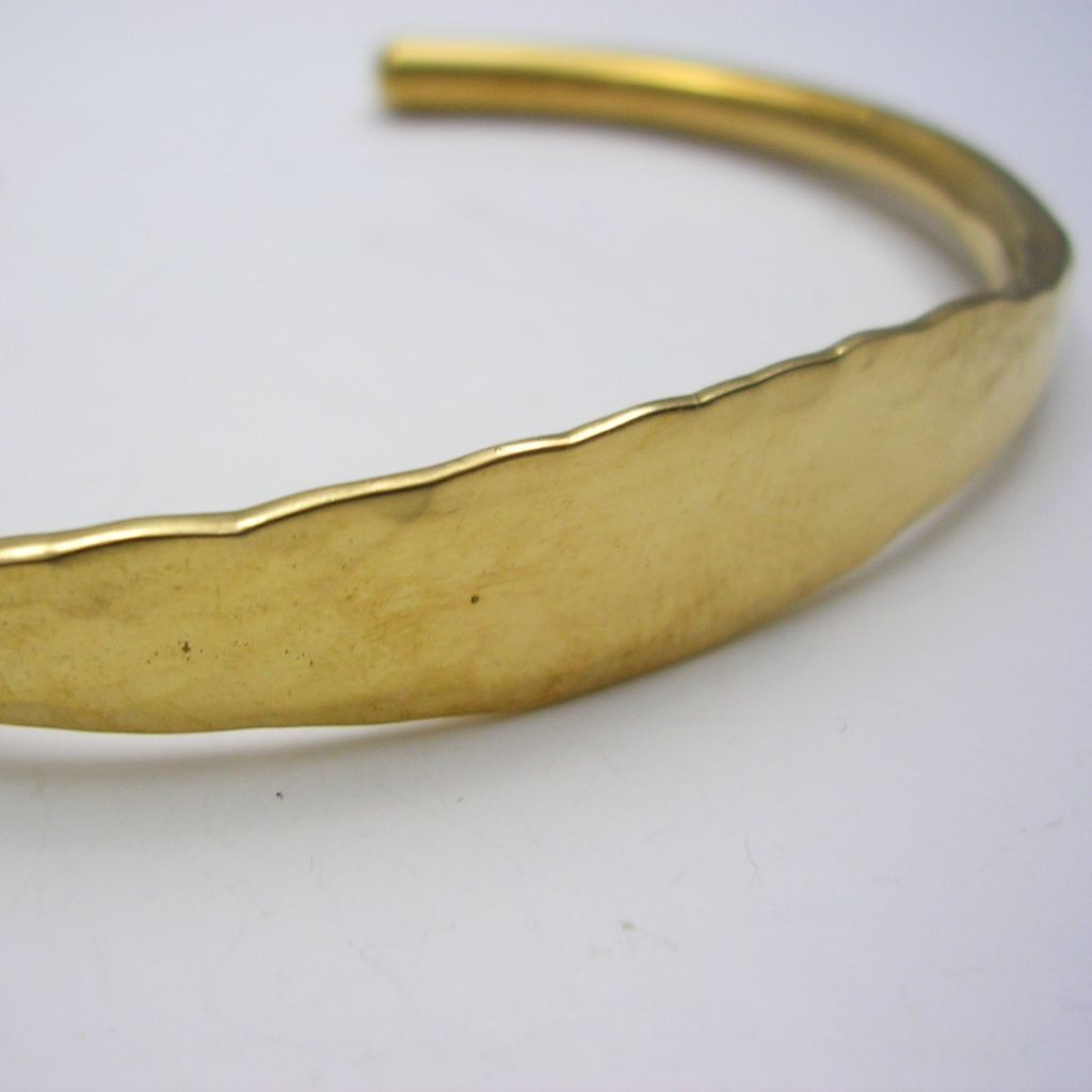 Mexican Hammered Tumbaga Bangle Cuff