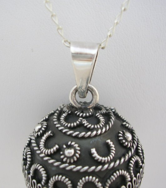 Harmony Taxco Sterling Silver Sphere Pendant