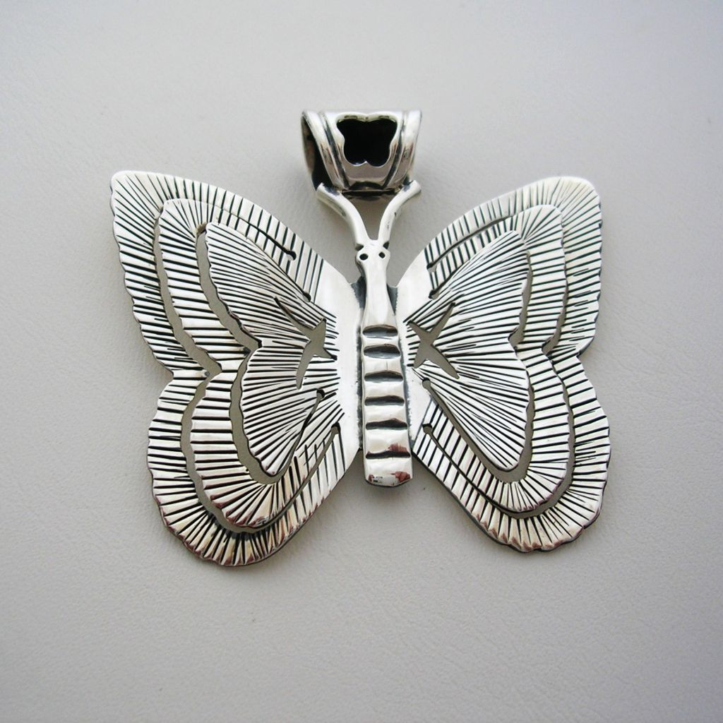 Mexican Silver Pendant Butterfly Shape