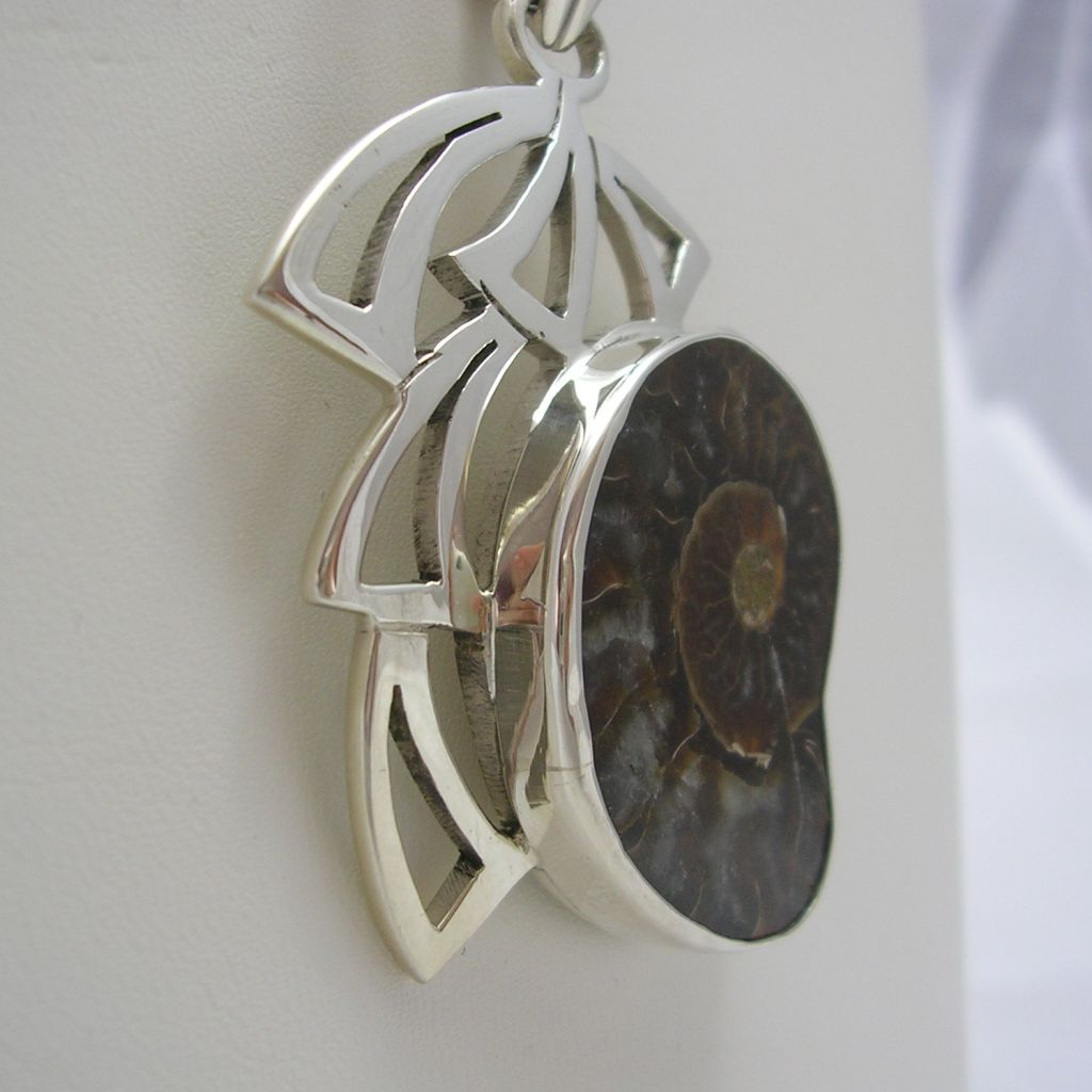 Sterling Silver and Ammonite Pendant