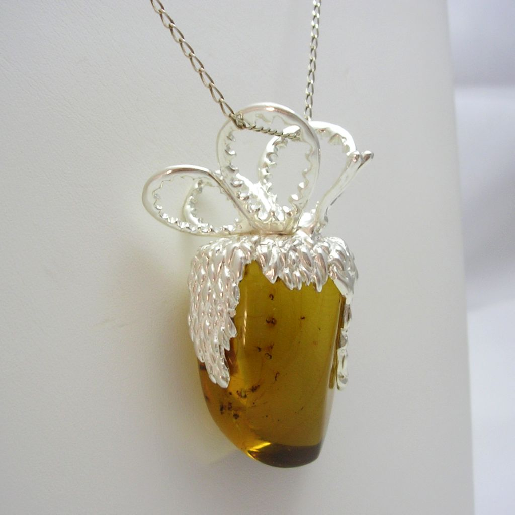 Simojovel Amber and Taxco Silver Pendant