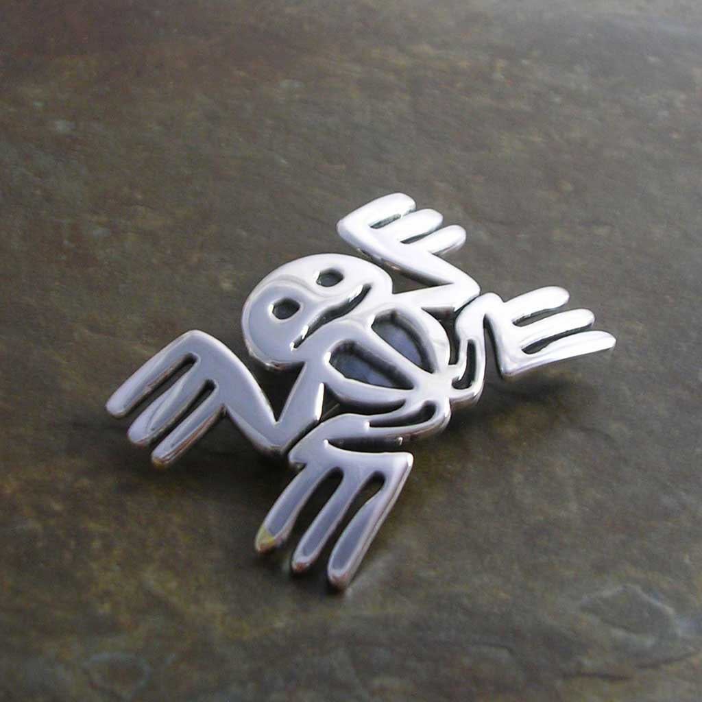 Prehispanic Dreams Silver Pendant-Brooch