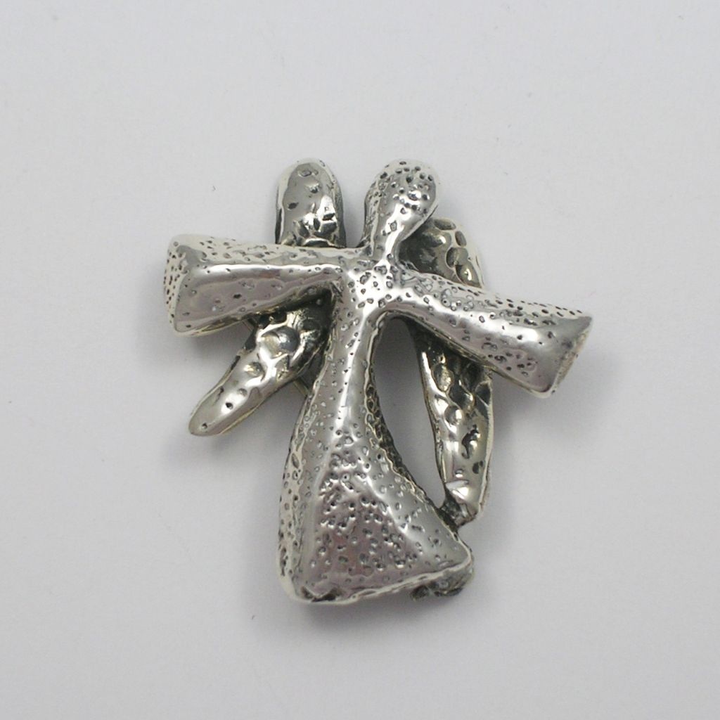 Solid Sterling Silver Angel Brooch