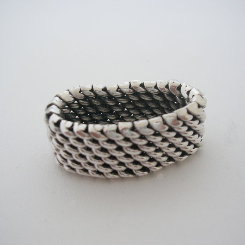 Taxco Sterling Silver Basket Weave Ring