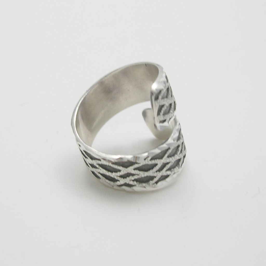 Two Tone Sterling Silver Ring