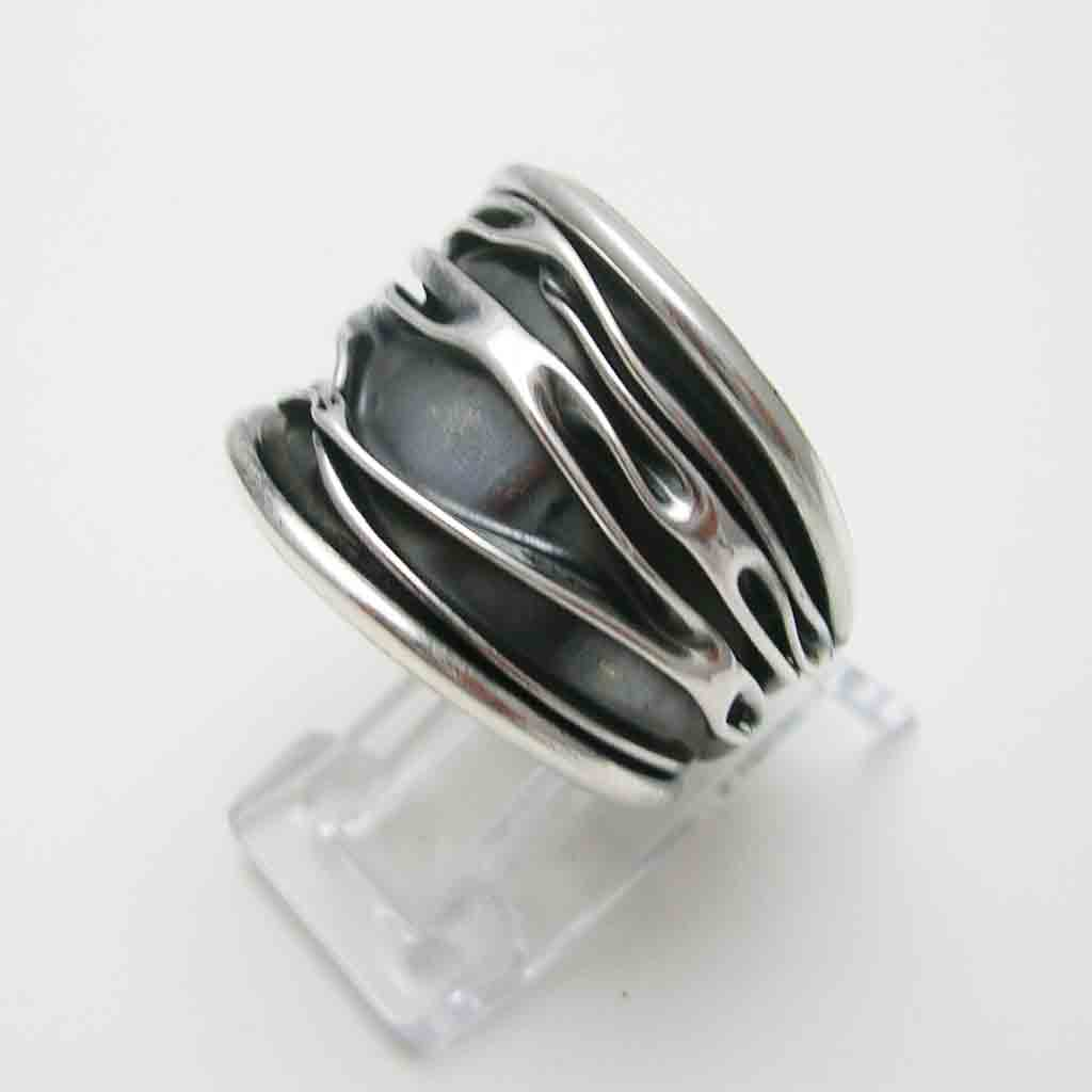 rings by oxidized jewellery in silver studio shop with rune scarab solid online band relief